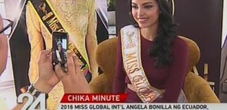 GMA-7 INTERVIEWS ANGELA BONILLA FOR THE CHIKA MINUTE SHOW ON HER RETURN TO THE PHILIPPINES