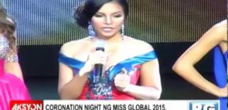 Miss Australia, kinoronahan bilang Miss Global 2015