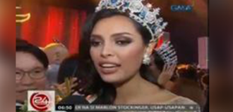GMA's newscast's 24 Oras TV coverage on Miss Global 2016