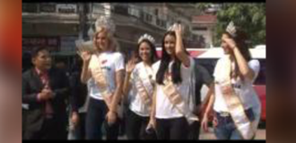 Miss Global 2015 Royal Court visiting Angkor Hospital for Children